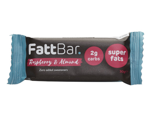 RASPBERRY & ALMOND FATTBAR. (pack of 30) Product Thumbnail