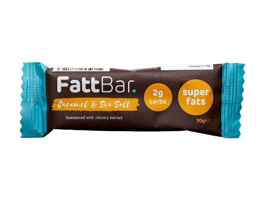 CARAMEL & SEA SALT FATTBAR. Product Thumbnail