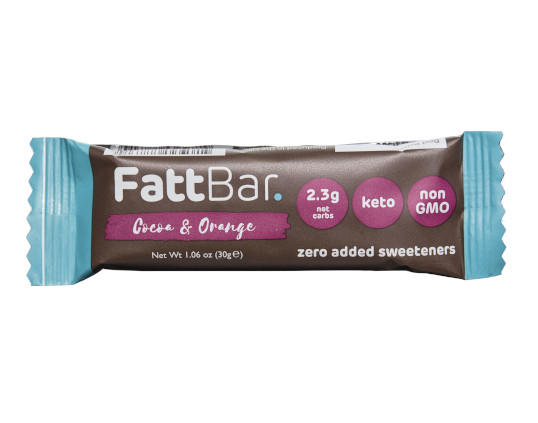 PAST BBE DATE Cocoa & Orange Fattbar. (BBE 23/06/20) Product Thumbnail
